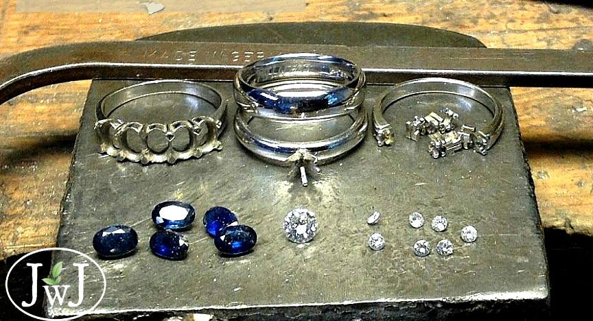 Vintage Jewellery Redesign Sapphires