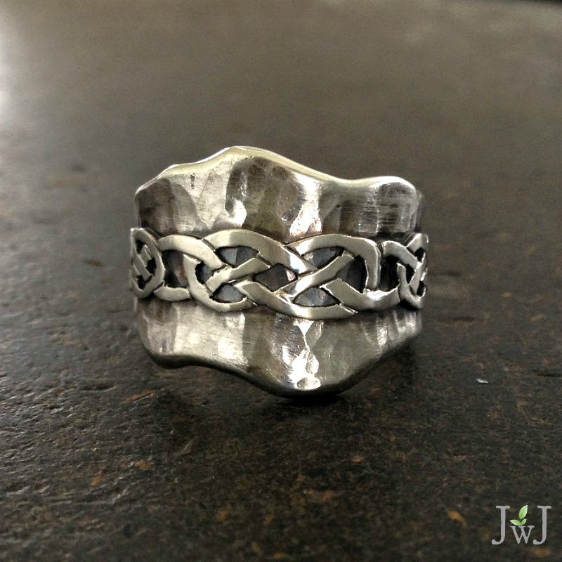 Celtic Hammered Ring