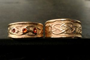 Celtic Love Sand Wedding Rings