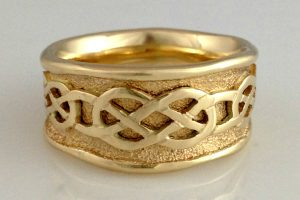 Celtic Sand Overlay Ring