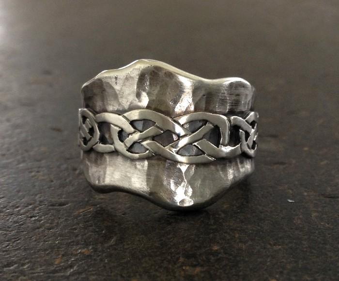 Celtic Hammered Ring