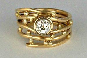 Bubbles Diamond Ring