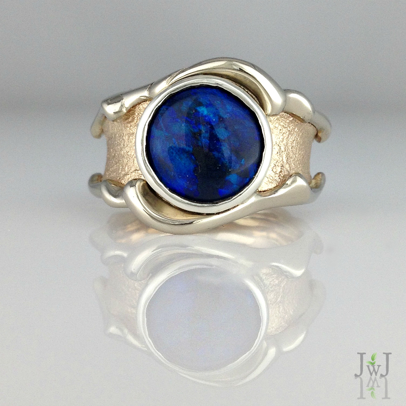 Opal Waves Ring