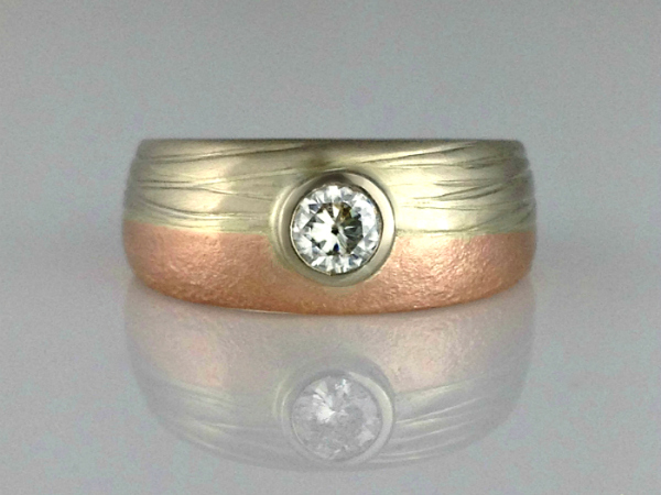 Land and Sea Engagement Ring