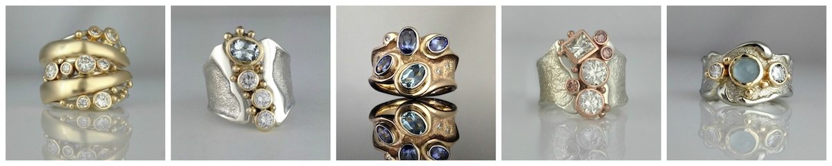 Sand rings designed by Jeanette Walker