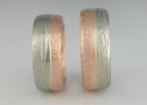 Land and Sea Wedding Bands