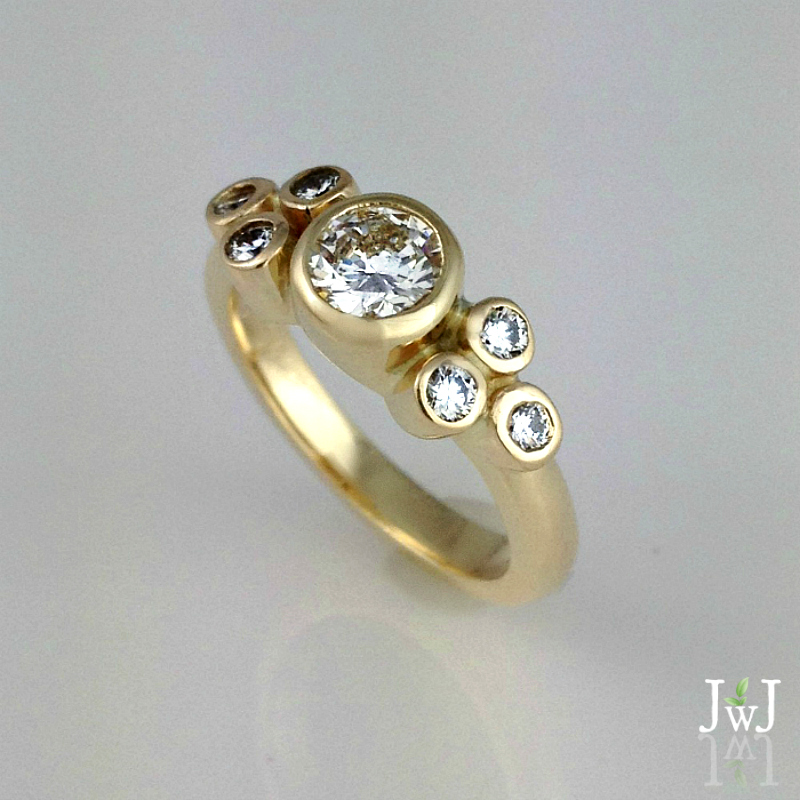 Skipping Stones Diamond Engagement Ring