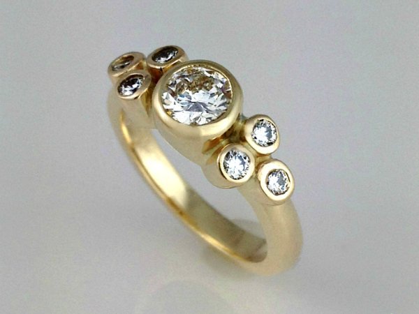 Skipping Stones Engagement Ring
