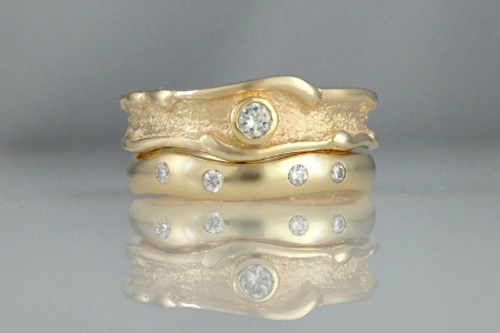 Ocean Inspired Wedding Bands