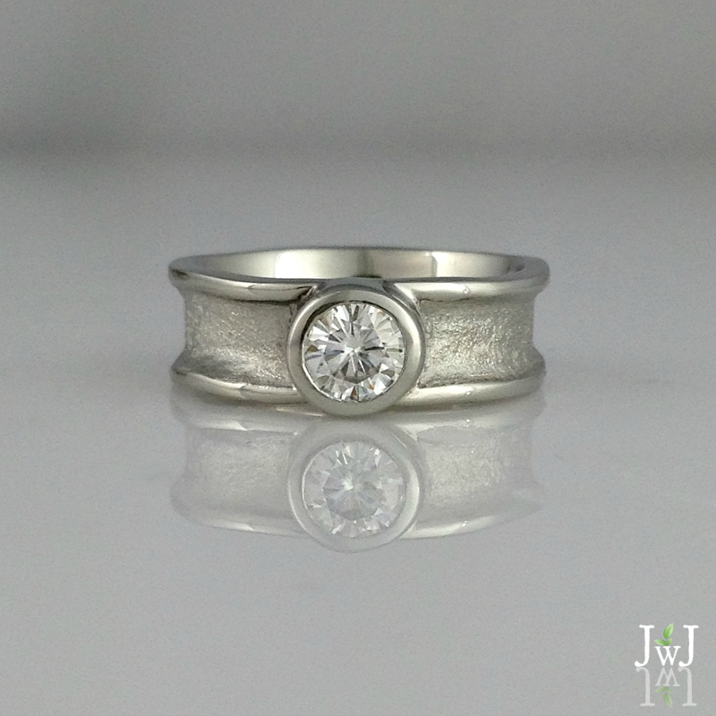 The Zena wide Engagement Ring