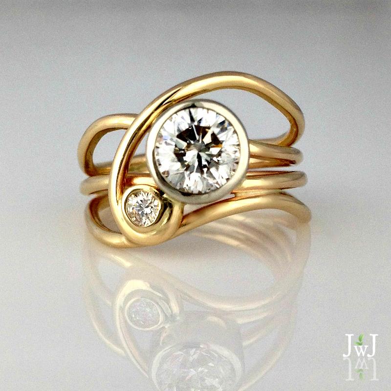 Diamond Horizon Ring