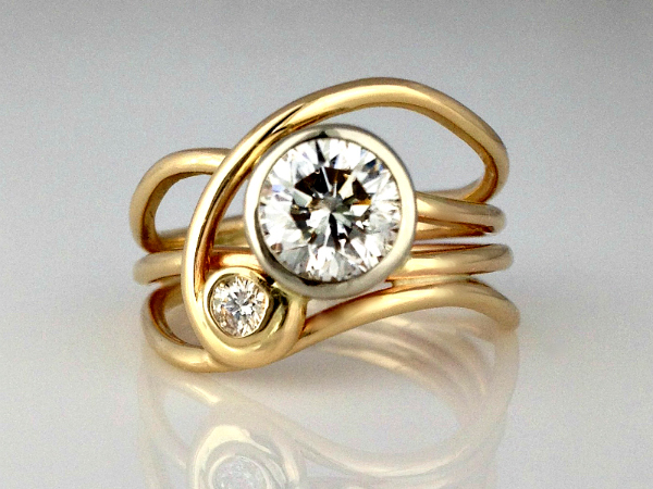 Diamond Horizon Ring