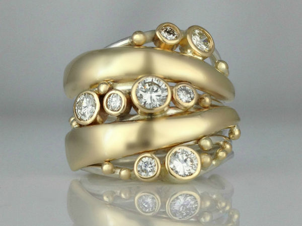 Multi-Diamond Statement Ring