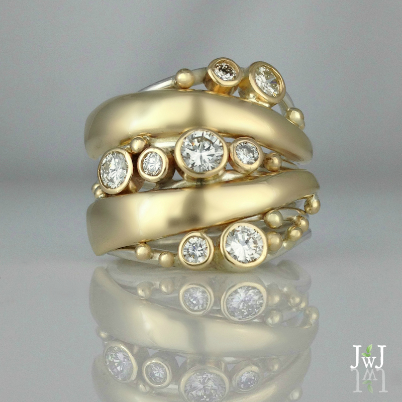 Muli-diamond-statement-ring