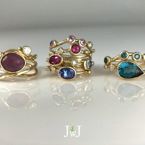 Juicy Gemstone Stacking Rings