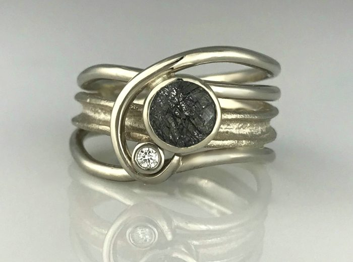 Rutilated Quartz Horizon Ring