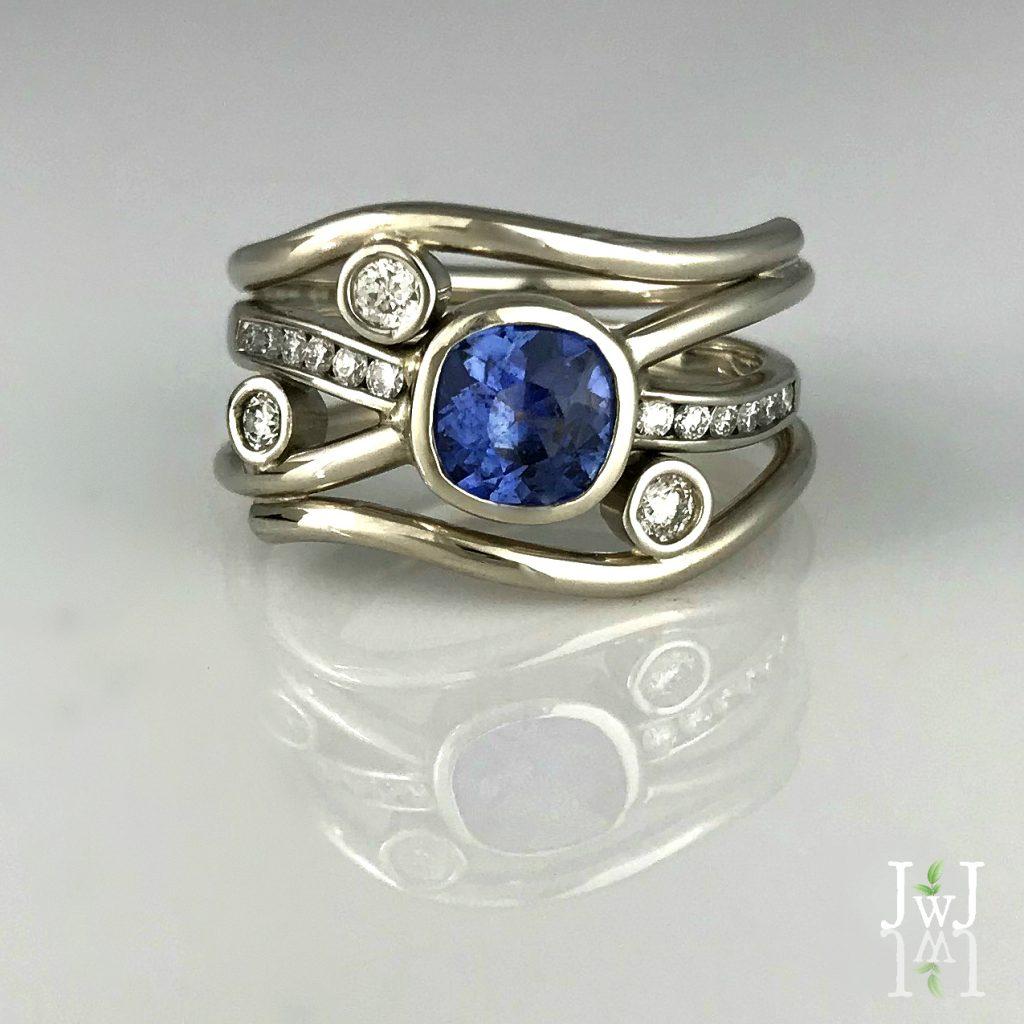 Blue Sapphire Diamond Flow
