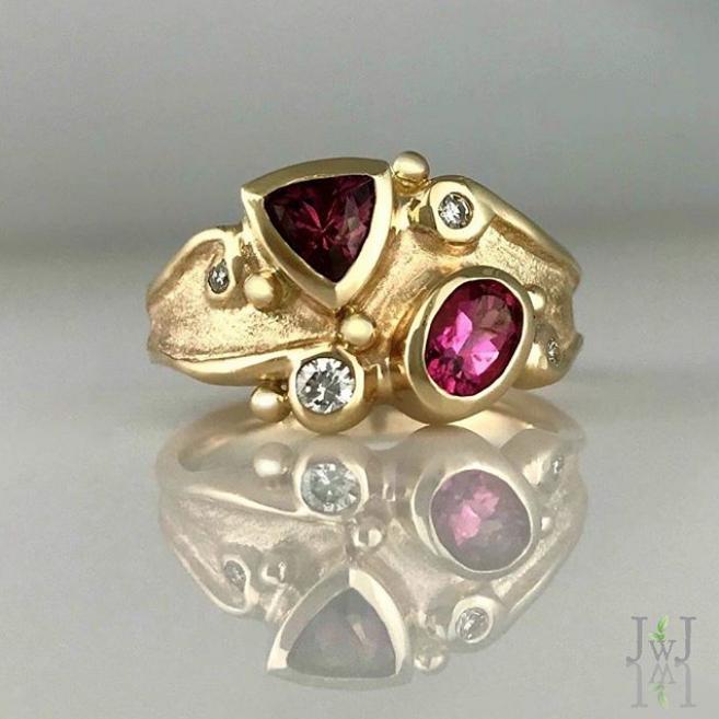 Rhodolite Garnet Pink Tourmaline Ring