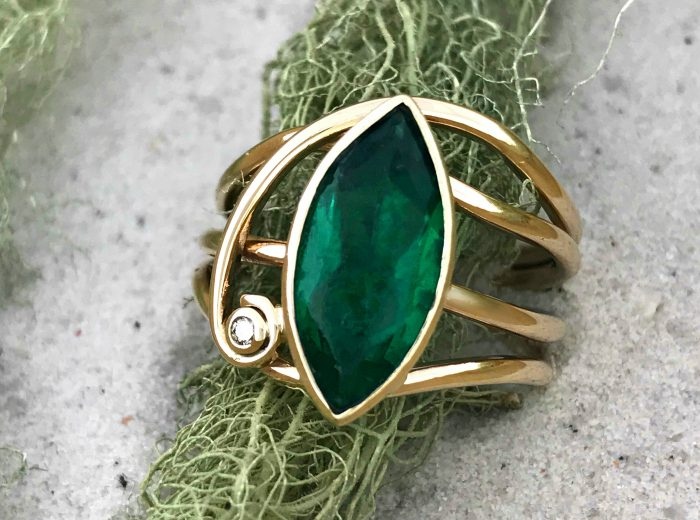 Emerald Horizon Ring – Vintage Jewellery Redesign