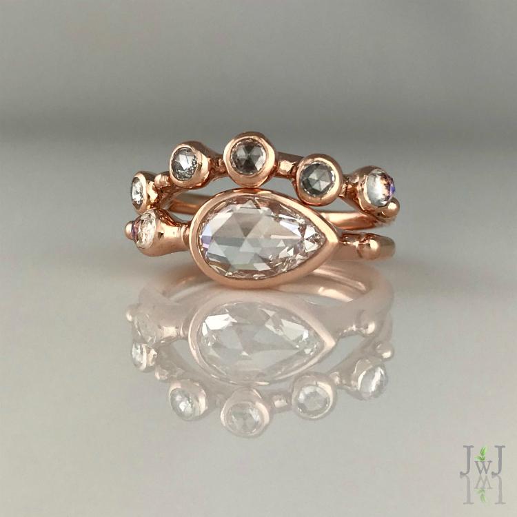 TheAliya Rose Cut Diamond Ring