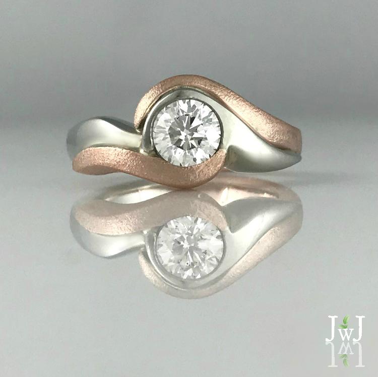 Ocean Love Engagement Ring