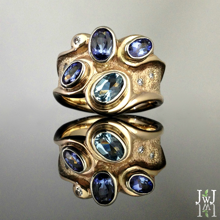 The Tanzanite Blue Wave Ring