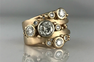 Bubbles and Wake Diamond Ring