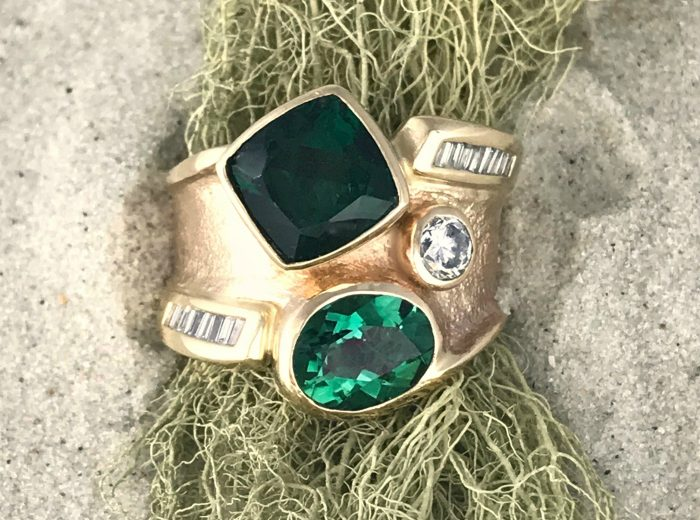 Green is Gold Sandcast Ring
