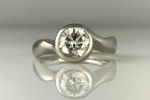 Diamond Moon Engagement Ring