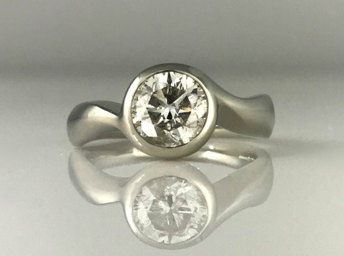 Diamond Moon Engagement Ring