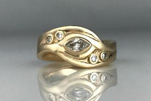 Sand Bar Wedding Ring