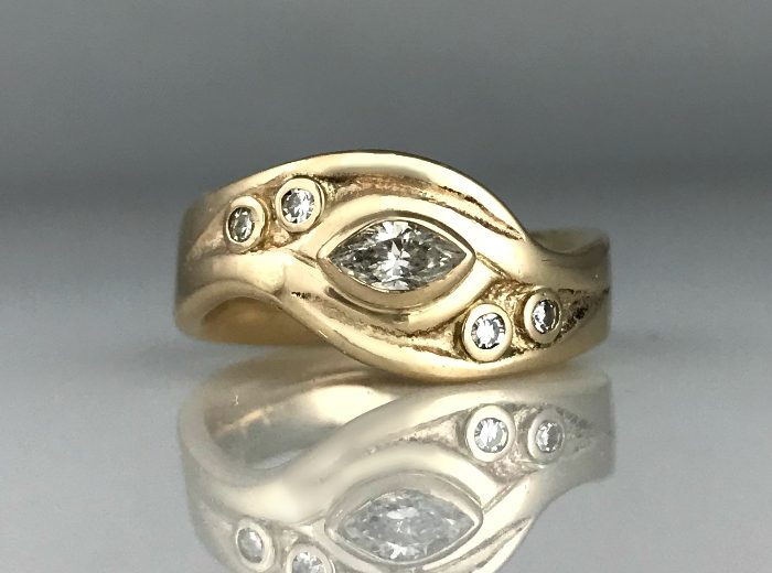 Sand Bar Wedding Ring