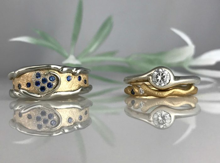 Ocean of Life Wedding Bands