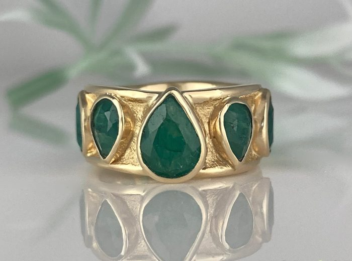 Emerald Ancient Sands Statement Ring