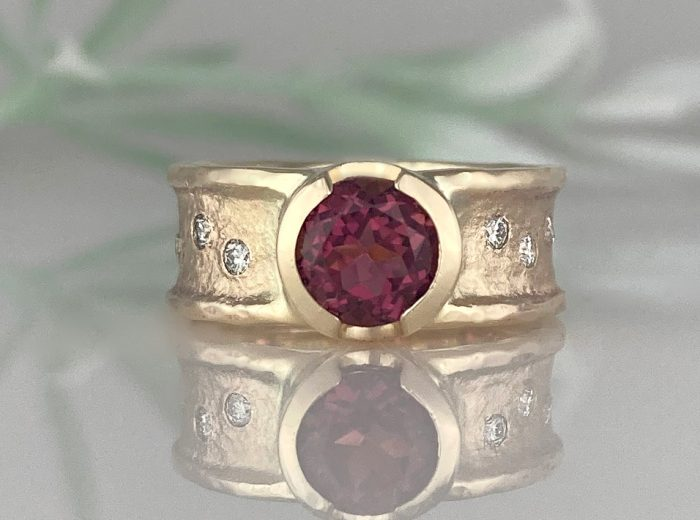 Betty's Pink Tourmaline Ancient Sands Ring