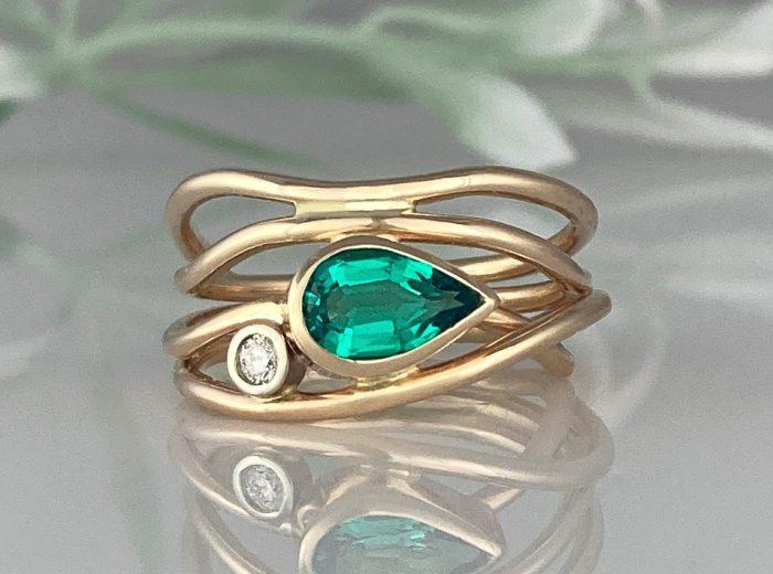 Emerald Horizon Alternative Engagement Ring